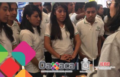Estudiantes del IEBO de la Sierra Sur conocen oferta educativa en Miahuatlán
