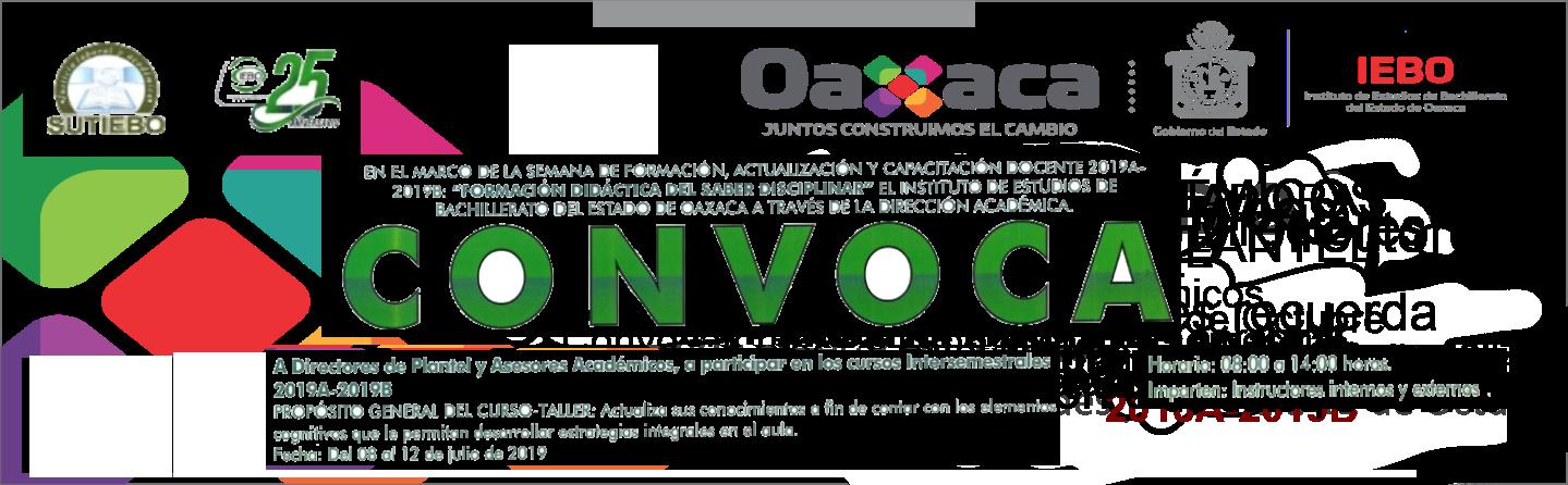 Convocatoria a Cursos intersemestrales 2019A-2019B