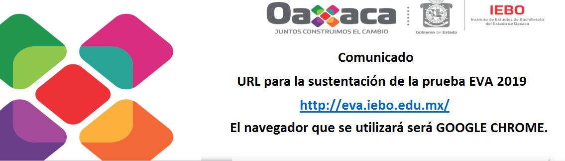 URL para la sustentación de la prueba EVA 2019