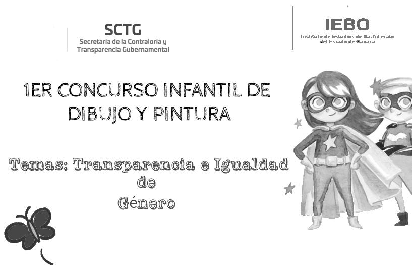 """1ER CONCURSO INFANTIL DE DIBUJO Y PINTURA """"TRANSPARENCIA E IGUALDAD DE GÉNERO"""""""