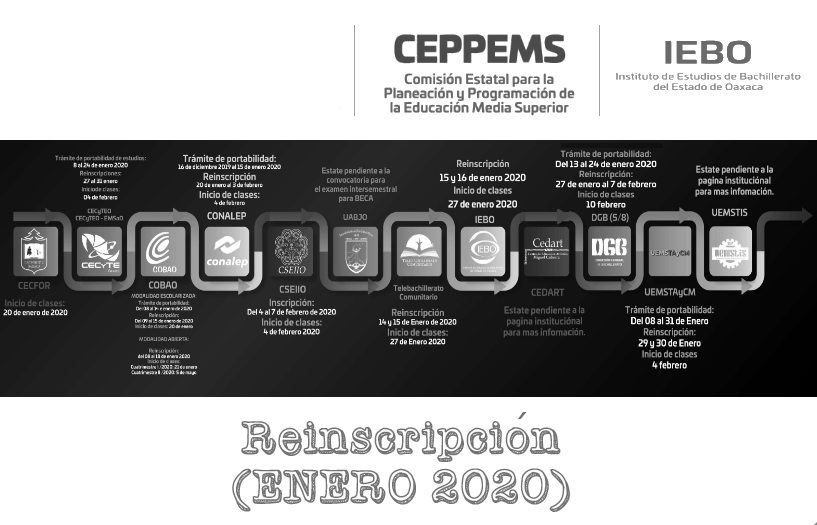 "CONVOCATORIA ""REINSCRIPCIÓN 2020"""