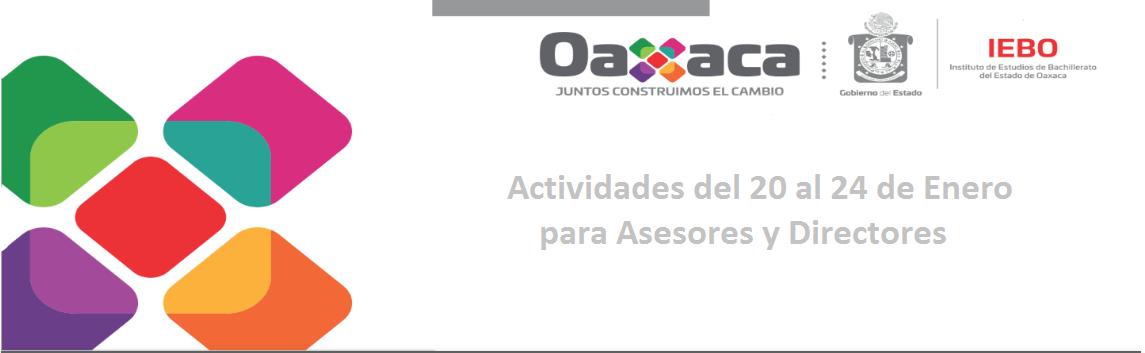 Actividades del 20 al 24 de Enero para Asesores y Directores