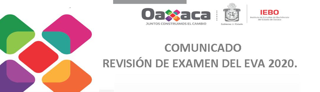 REVISIÓN DE EXAMEN DEL EVA 2020.