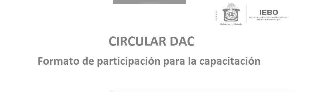 Circular DAC formato de participación para la capacitación