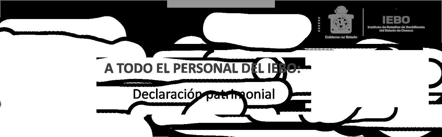 A TODO EL PERSONAL: Declaración Patrimonial