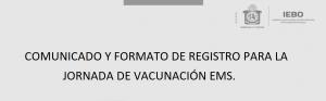 jornada de vacunacion y formato de registro