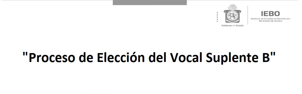 Proceso de Elección del Vocal Suplente B