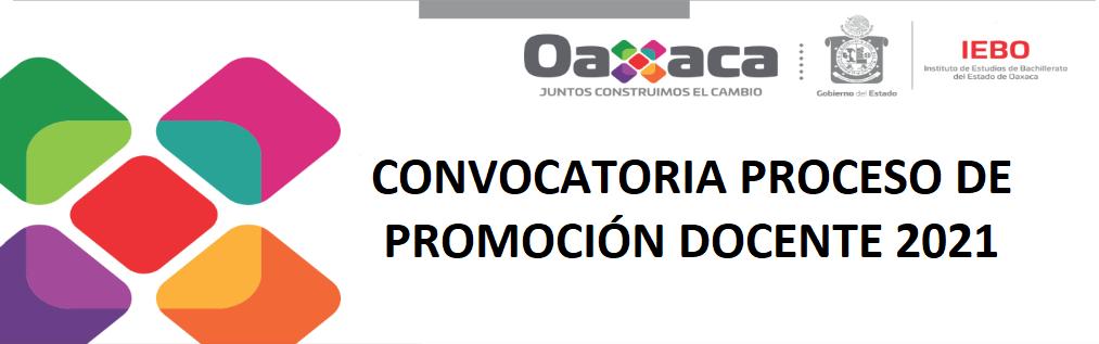 CONVOCATORIA PROCESO DE PROMOCIÓN DOCENTE 2021